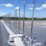 Post and wire bird control installation Kent