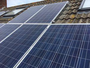 Solar panels protecte from bird infestation