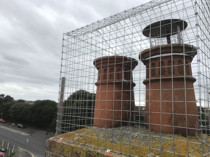 Chimney Guard to stop seagulls from nesting